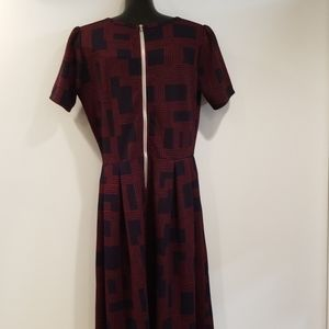 LuLaRoe Dresses - Lularoe Amelia Dress Back Zip Navy Blue Large Long